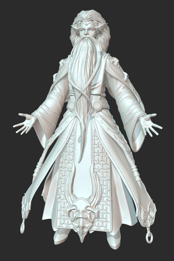 the Wizard  Sculpt by PyrZern