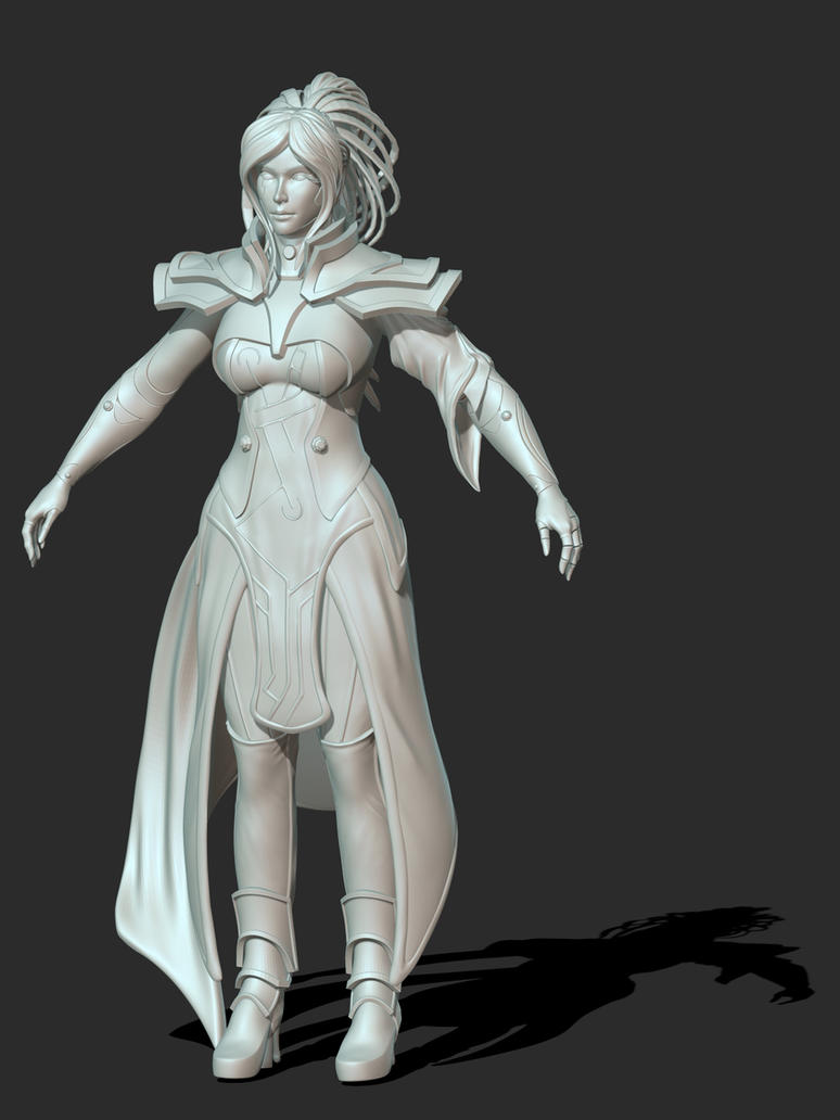 Temperance  Dawn - Final Sculpt by PyrZern