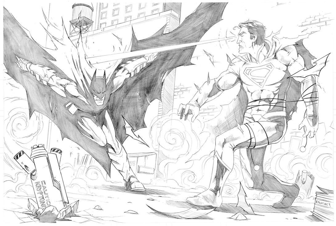 batman v superman commission 1 by merrk on deviantart