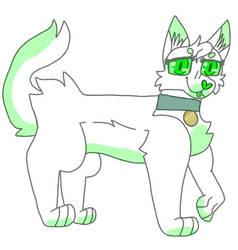 Greeeeen kitty ( custom trade )