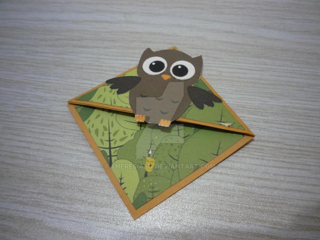 Owl Corner Bookmark by TheresiaSN