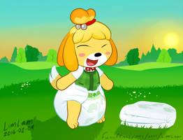 Isabelle in her diaper by Castillofamilyart