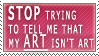 art is art stamp by minas-stamps