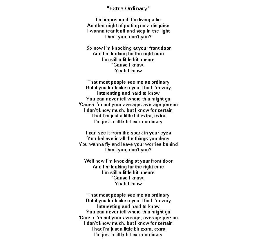 Lyric i believe in you lyrics : Extra Ordinary Lyrics by Lucy Hale by SefiraAmadea on DeviantArt