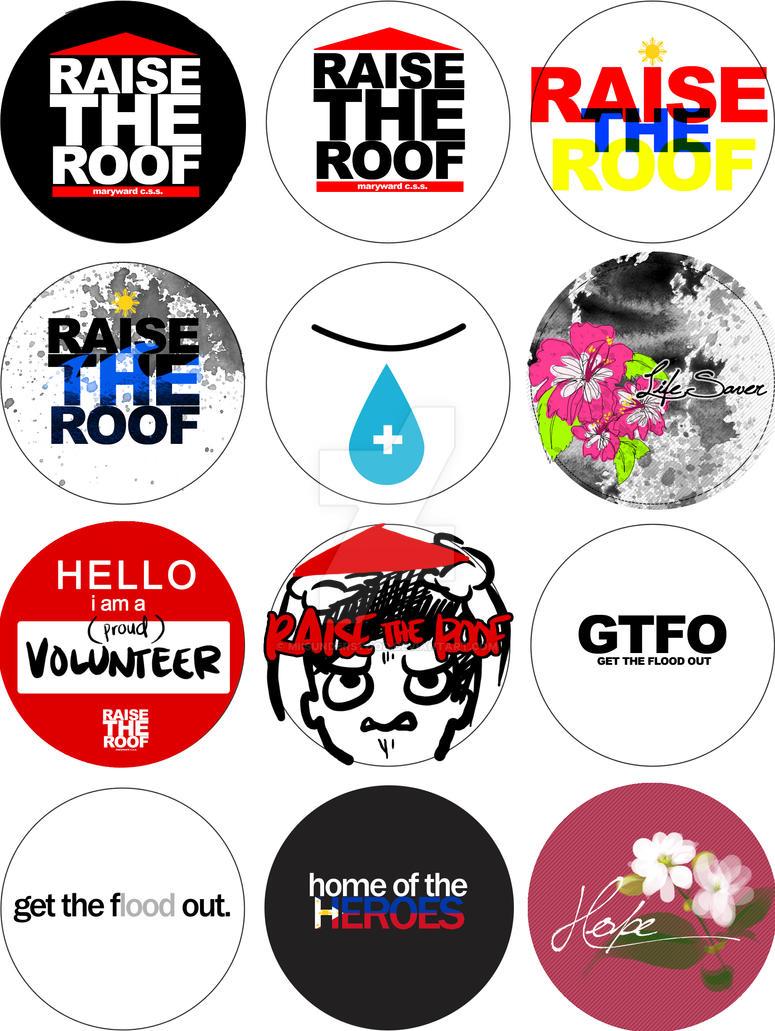 Raise The Roof Button Designs By Miisunderstood On Deviantart