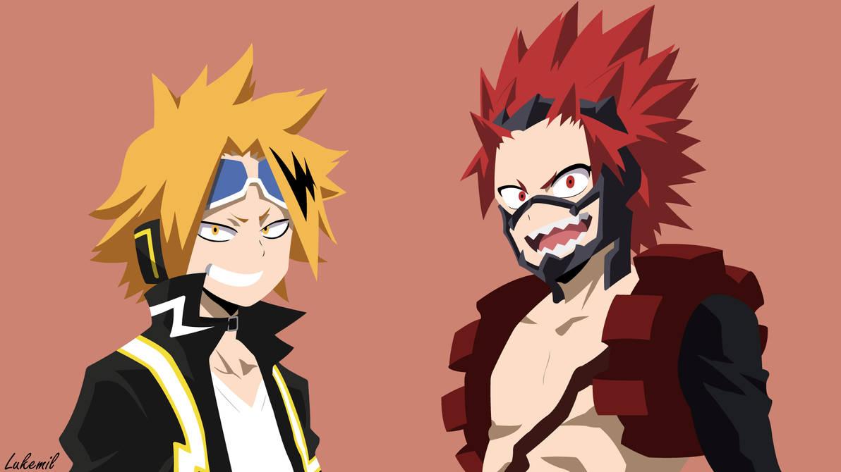 Kirishima and Kaminari (Boku no Hero) Wallpaper by Lukemil ...