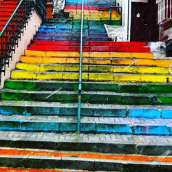 Life is a ladder that colorful