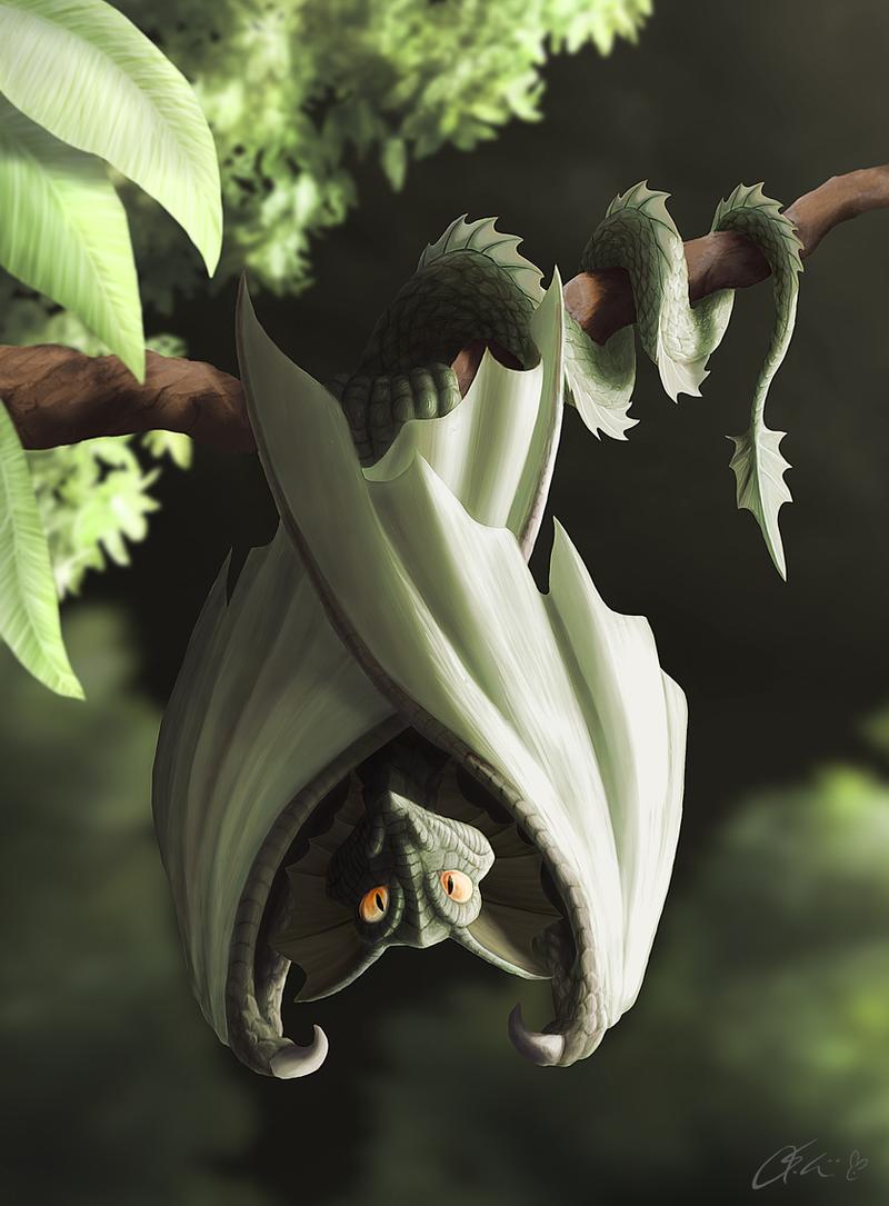 Green Dragonbat by dashase
