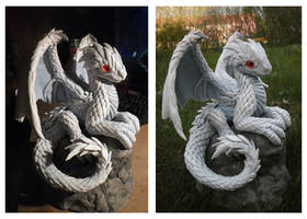 White Dragon Hatchling (crafted version) by dashase