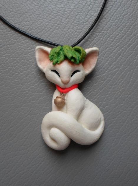 Lettuce Cat Pendant by dashase