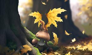 Leaf Dragon by dashase