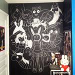 Chalk board: adventure time collage