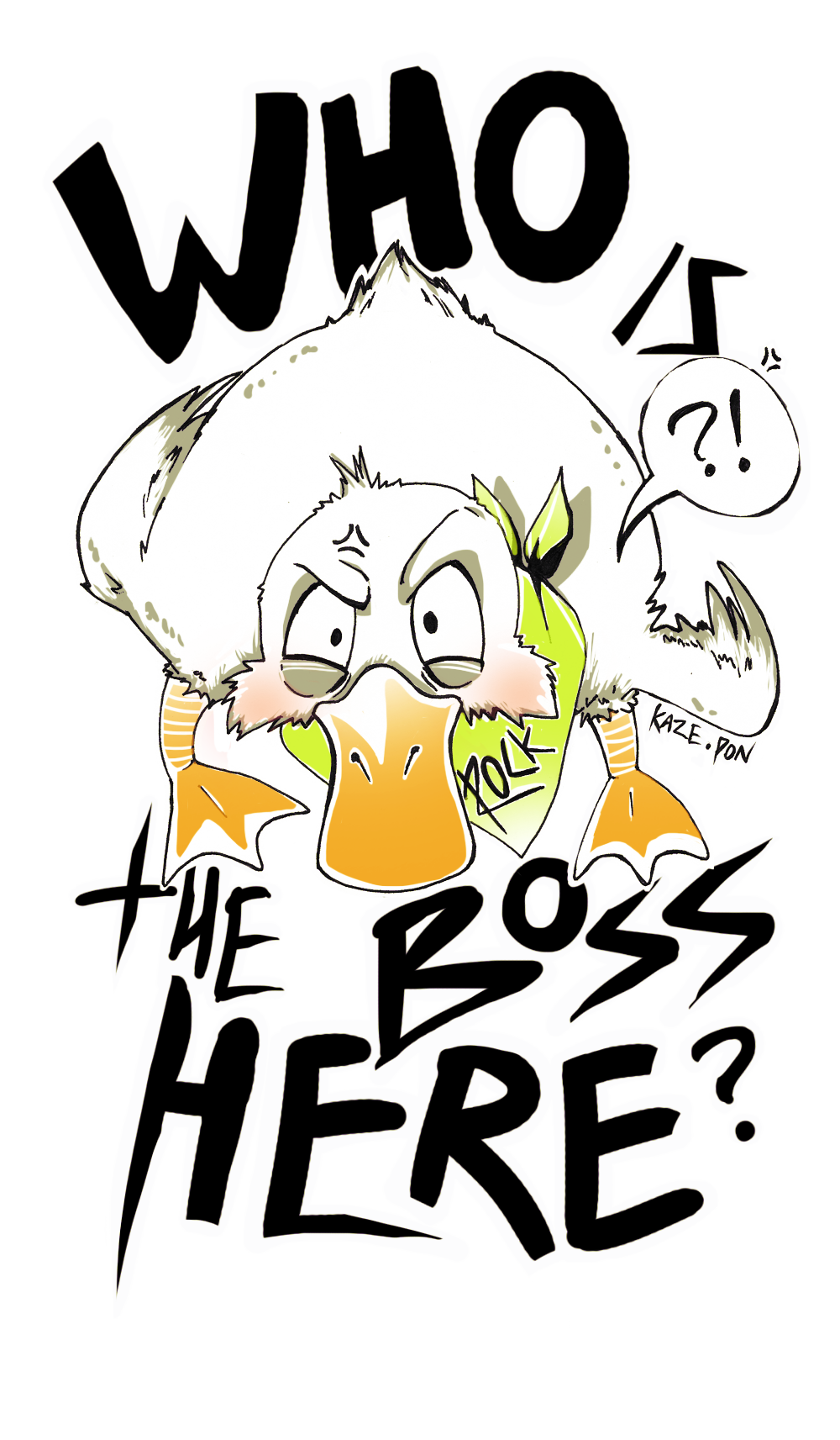T shirt logo duckboss xd by kaze pon on deviantart for Shirts with small logos