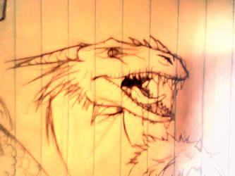 dragon-gold-II by Yanae