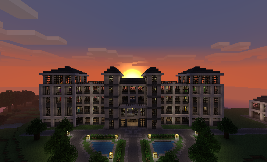 Minecraft builds hotel by them4cgodfather on deviantart for Cool design hotel