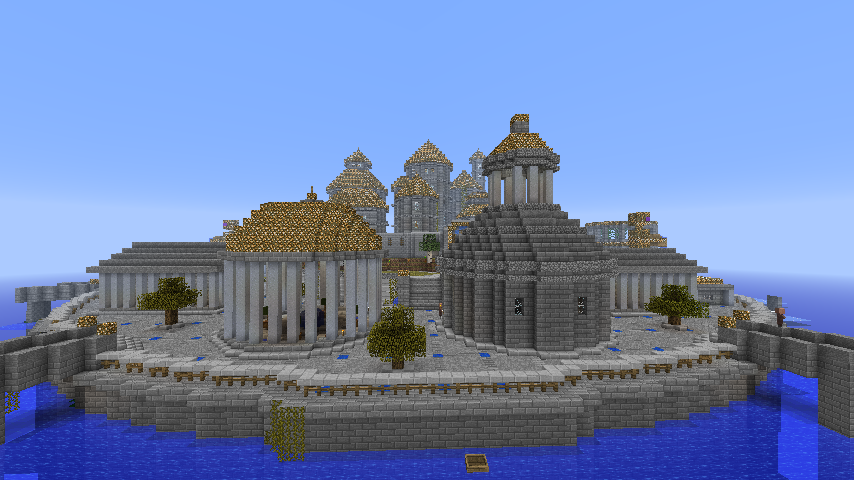 minecraft builds the lost city of atlantis by them4cgodfather on