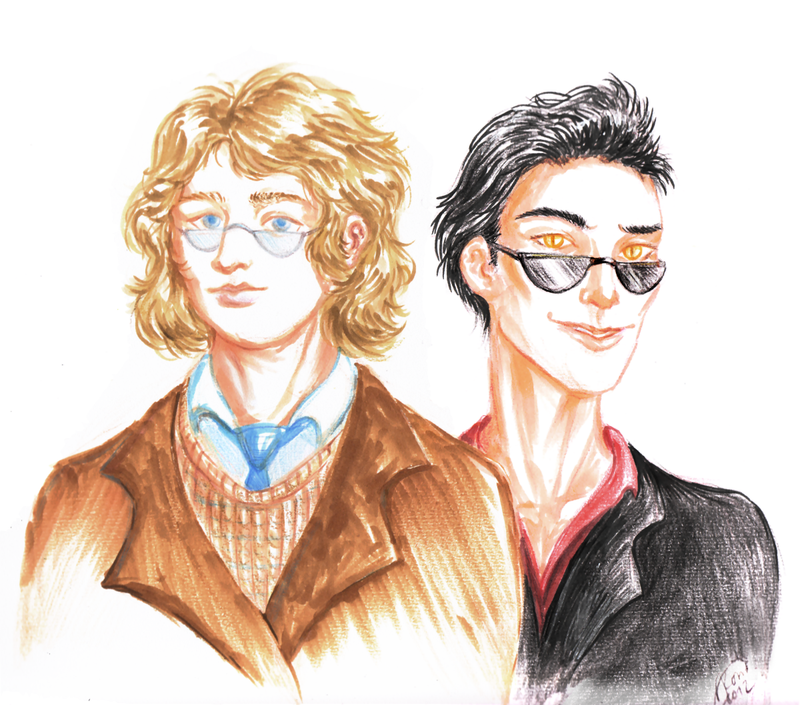 Good Omens: Crowley and Aziraphale by Kaytara