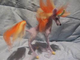 Needle Felted Flame Unicorn