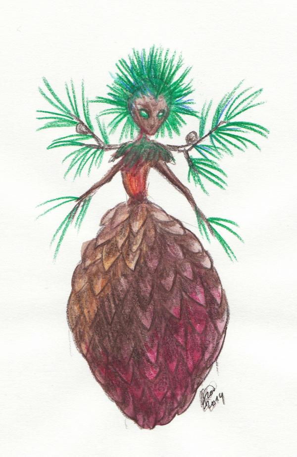 Pine Cone Fairy by Kaytara