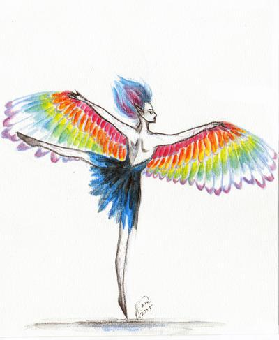 Rainbow Ballerina by Kaytara