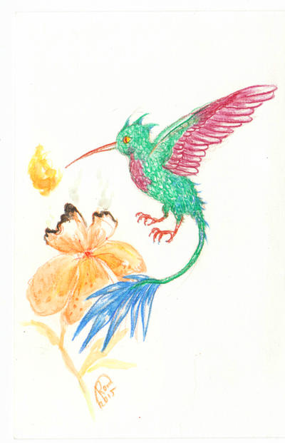 Hummingbird Dragon by Kaytara