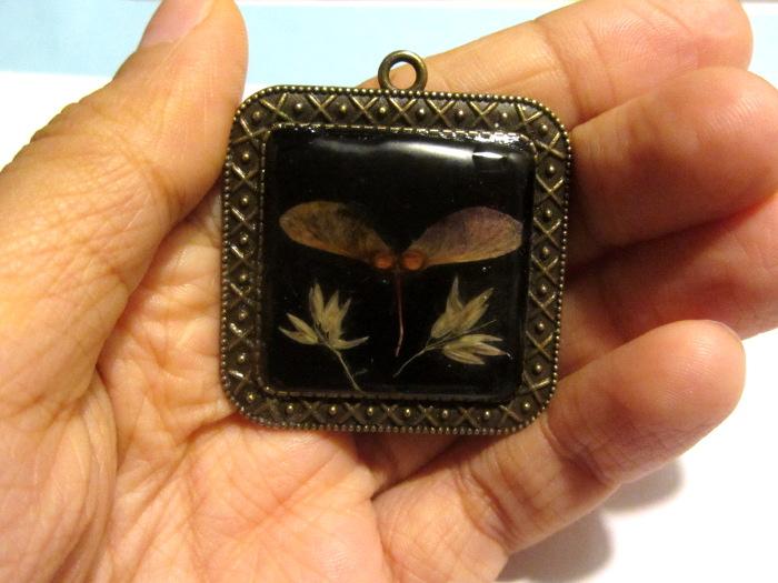 Ash seed pendant by Kaytara