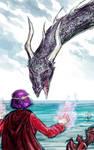 Vaarsuvius Faces the Dragon