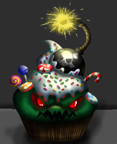 EVIL Cupcake by DJ-Elcy on DeviantArt