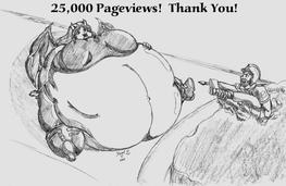 25,000 Pageviews - Thank You by BellyDemon
