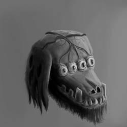 Deformed dog sketch