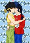 Ranma And Ryouga yaoi kiss