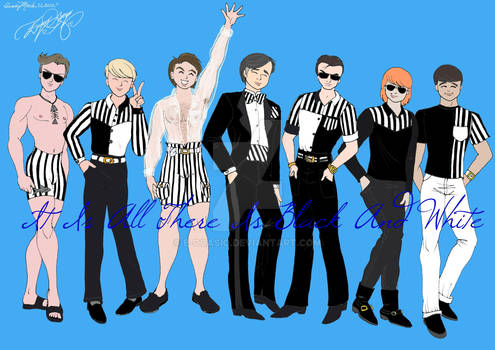 Stripes In Black And White Men's Collection