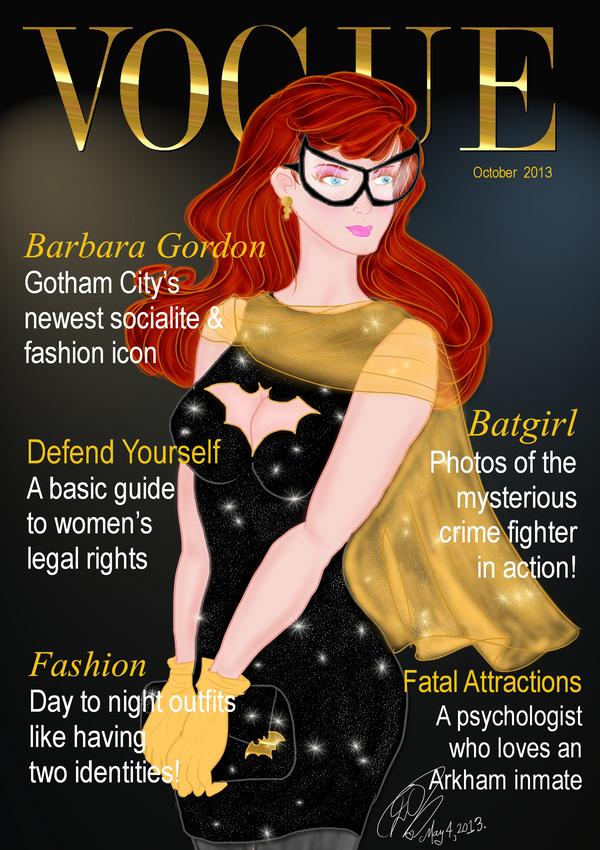 Vogue cover Barbara BATGIRL Gordon by E-Ocasio