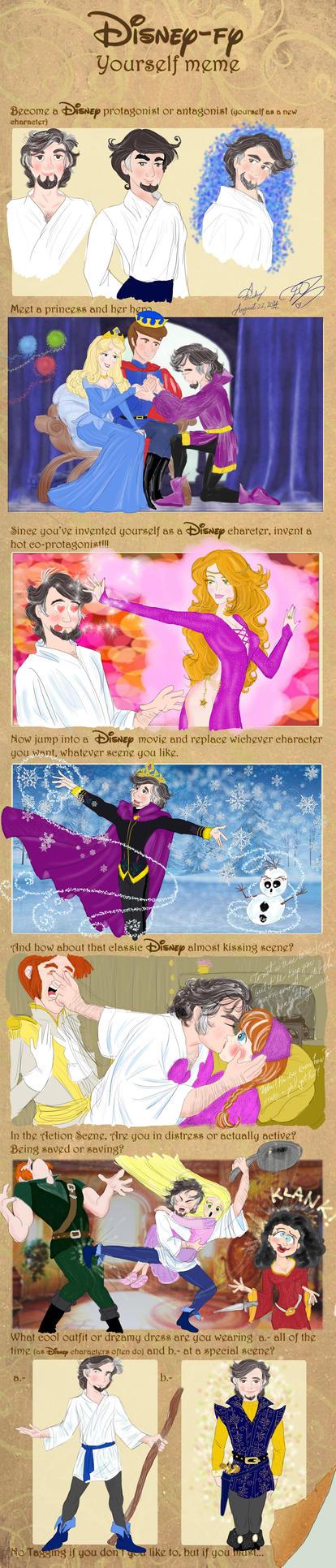 Disney Fy Yourself Meme Me as a hero by E-Ocasio
