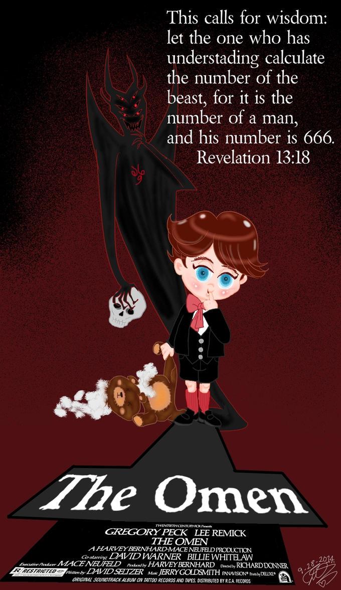 The Omen movie mini poster little Damien by E-Ocasio