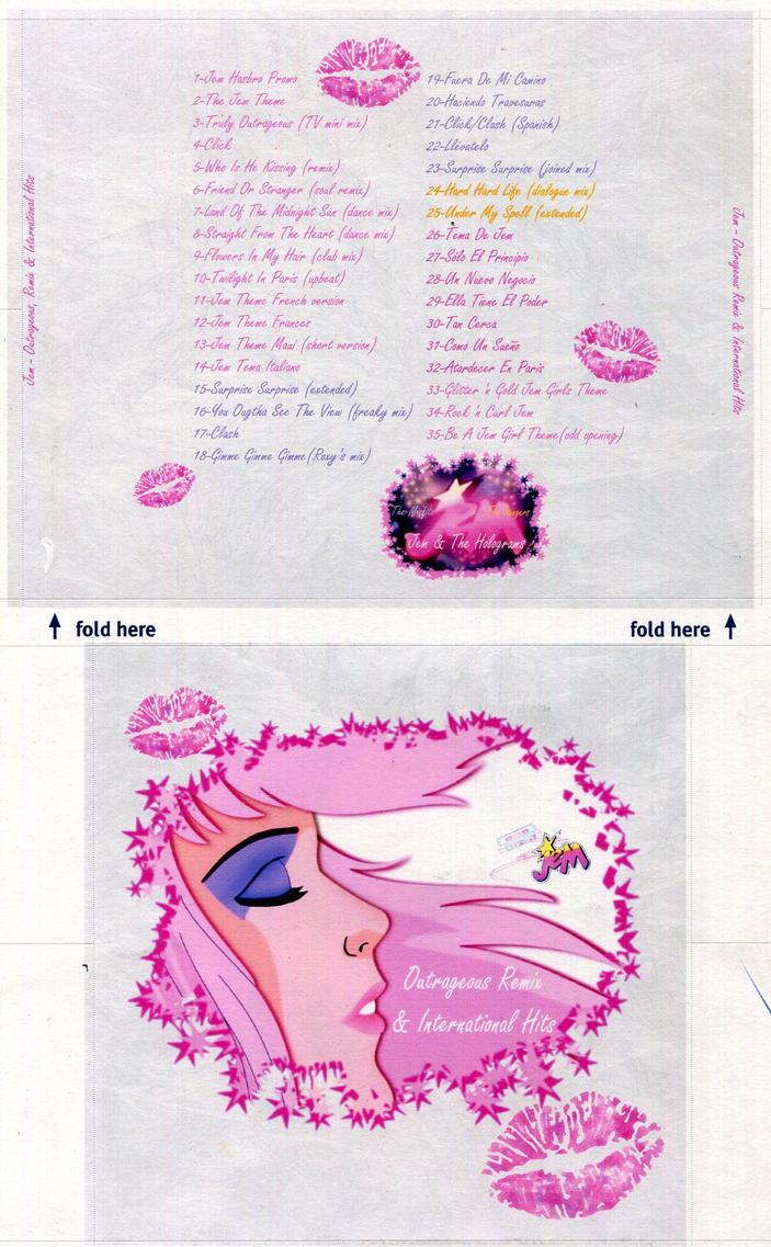 Jem Remix Album CD cover custom  made by E-Ocasio