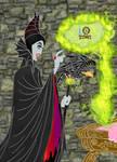 Malefica coloring page by E-Ocasio