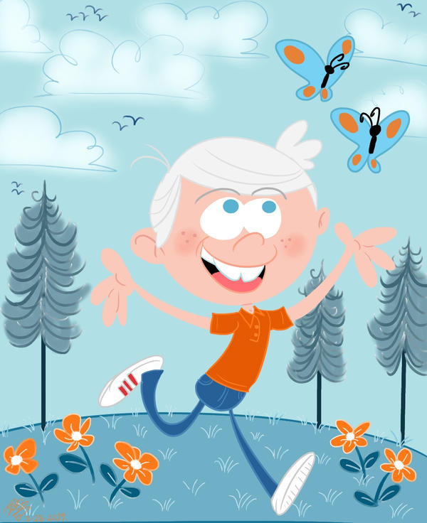 Loud House Lincoln spring frolicking