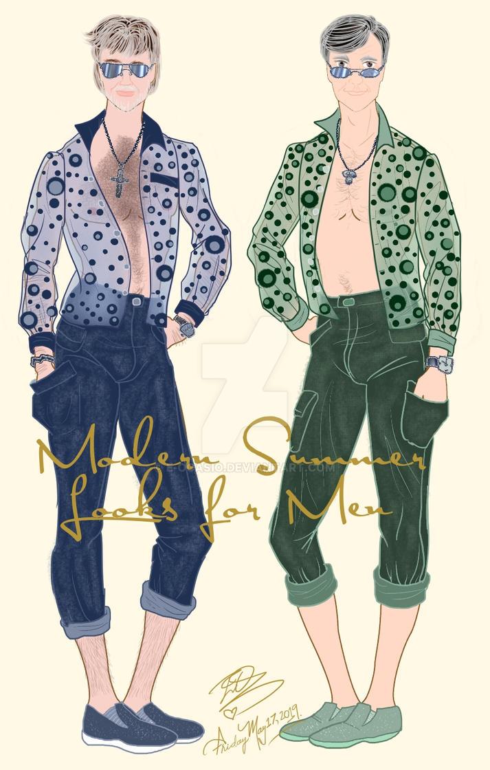 Modern Summer Men's fashion by E-Ocasio