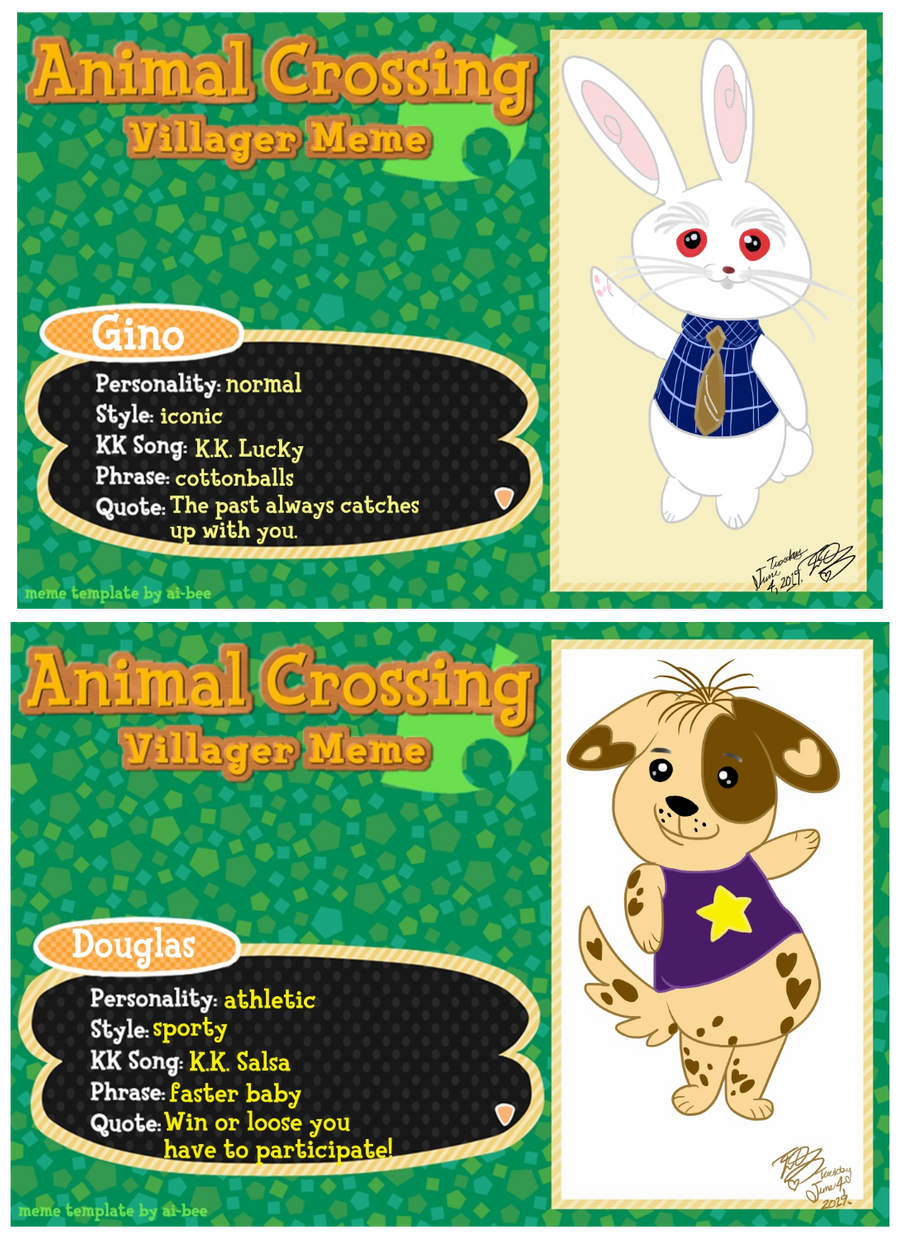 Animal Crossing New Leaf original villagers III by E ...