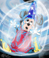 sorcerer Mickey trapped commission
