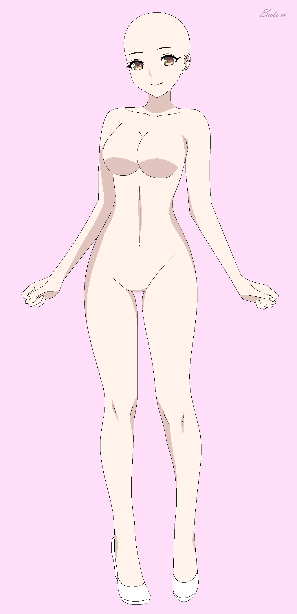 anime girl reference fullbody base by SatoriSky on DeviantArt