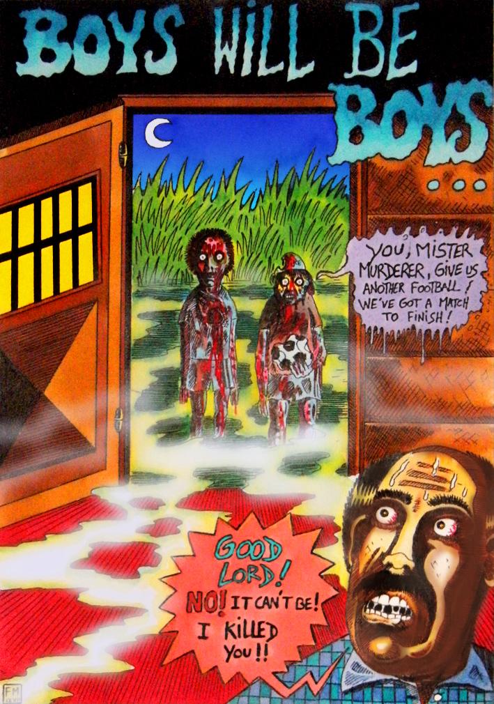 Boys Will Be Boys... ( Footbal of Death !) by Glamvampyre