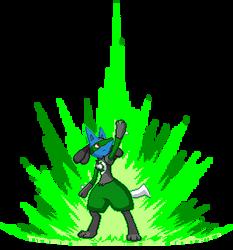 Green Lantern Lucario by SpiderMew