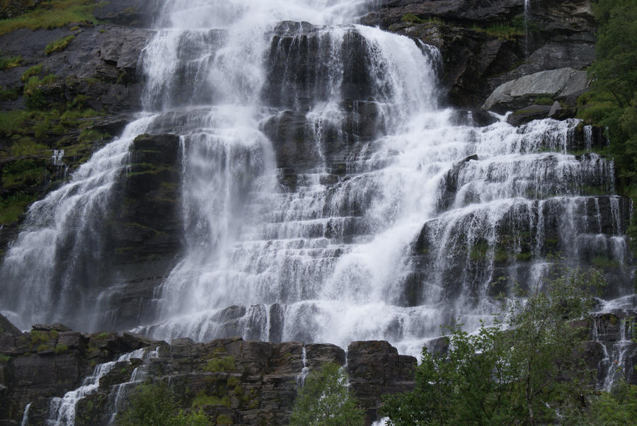 Waterfall Norway III by Seluias-stock