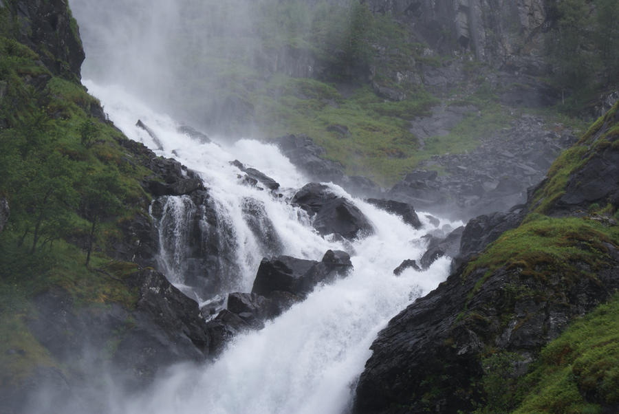 Waterfall Norway IV by Seluias-stock