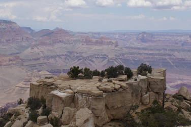 Grand Canyon rock by Seluias-stock