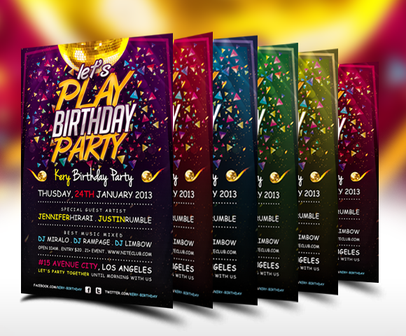 Birthday Party Flyers Designs Boatremyeaton