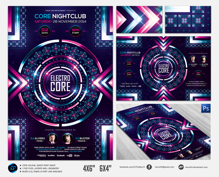 Electro Core Flyer Template by ranvx54 on DeviantArt – Electro Flyer