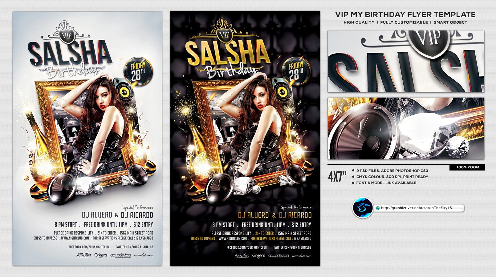 Bday Bash Flyer By Blndesigns Deviantart – Dibujos Para Colorear